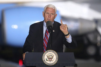 Vice-President Mike Pence has been urged to stay away from Amy Coney Barrett's confirmation vote.