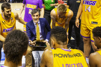 Will Weaver during the Kings' game against the Illawarra Hawks at WIN Entertainment Centre last month.