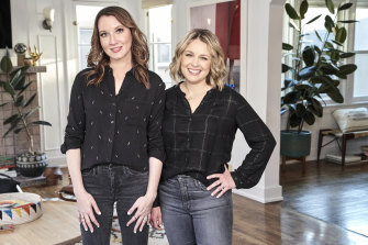 Home organisers Clea Shearer (left) and Joanna Teplin.