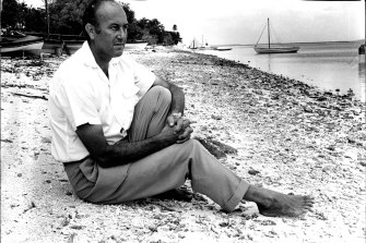 John Clunies-Ross on his paradise island in 1972.