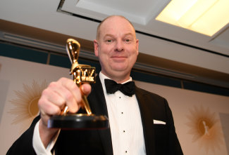 The ABC's Tom Gleeson won the Logies top honour in 2019.