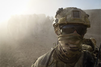 A special forces soldier in Helmand province, southern Afghanistan, in 2012.