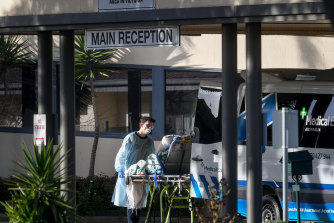 The last remaining St Basil's residents were moved to hospital on Friday.