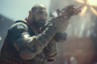 Dave Bautista plays a hulking mercenary in Zack Snyder's Army of the Dead.