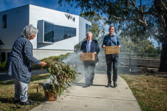 There was a smoking ceremony for the blood samples at the ANU.