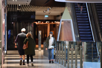 A few shoppers returned to Emporium on Monday.