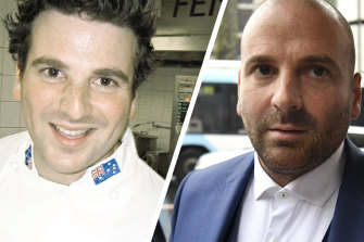 George Calombaris then and now.