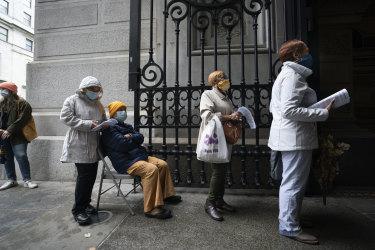 Voters at City Hall, in Philadelphia.