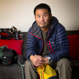 Gilian Lee, who was rescued from Everest this year.