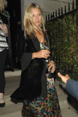 Kate Moss opts for a velvet cover-up.