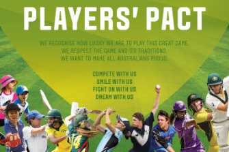 The players' pact out of the Cricket Australia review.