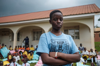 Leah Namugerwa, a prominent 15-year-old climate activist in Uganda.