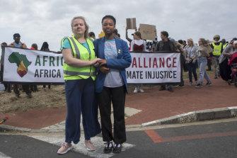 Activists Ruby Sampson and Ayakha Melithafa.