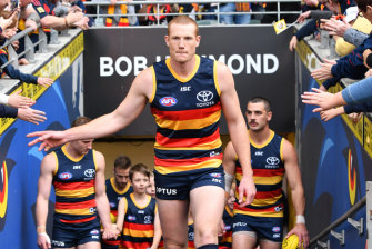 Adelaide's Sam Jacobs could offer something to another club if he moved on from the Crows.