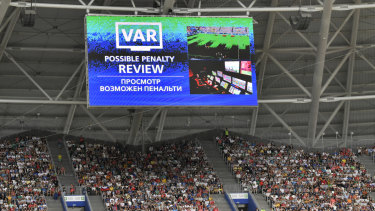 VAR was used at the men s World Cup in Russia last ... b83a354c2