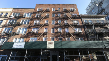 Another apartment building, centre, owned by Kushner Companies, in the Brooklyn Heights, New York.
