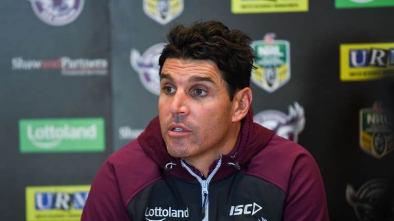 Eagles rocked: Trent Barrett's future is up in the air.