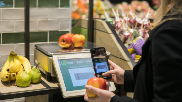 The new Woolworths app gives customers a 'checkout free' experience