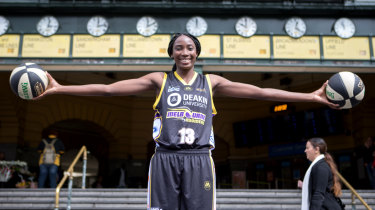 Playing with the Canberra Capitals in the WNBL last season convinced Ezi Magbegor to stay in Australia rather than head to the United States.