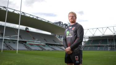Big game, big personality: Dragons enforcer James Graham.
