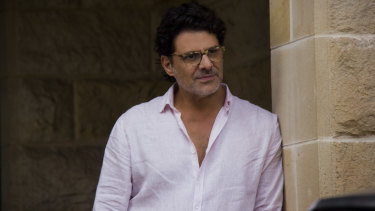 Vince Colosimo plays Rachael Blake's character's lover and publisher.