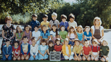 Julie Murphy (right) and her class in 1979.