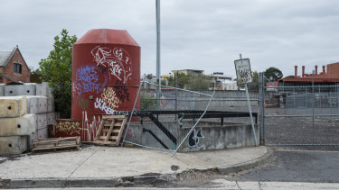 The old Fitzroy Gasworks site on  the corner of Smith Street  and Alexandra Parade.