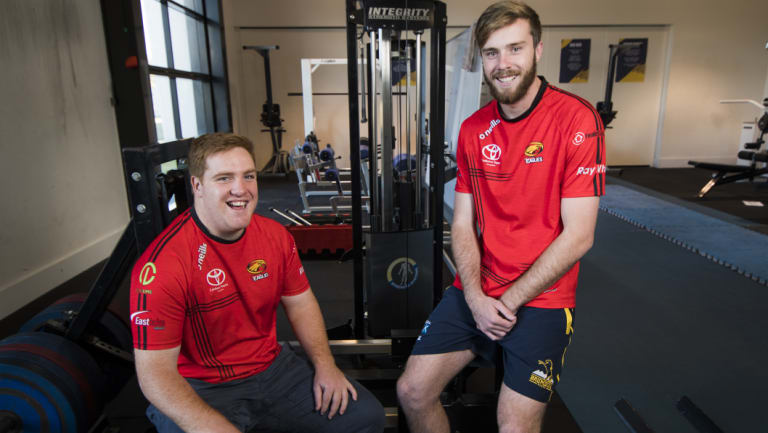 Tom Ross, left, and Mack Hansen have been called into the Canberra Vikings' starting team.