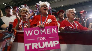 Trump rally at Pensacola International Airport on Saturday.