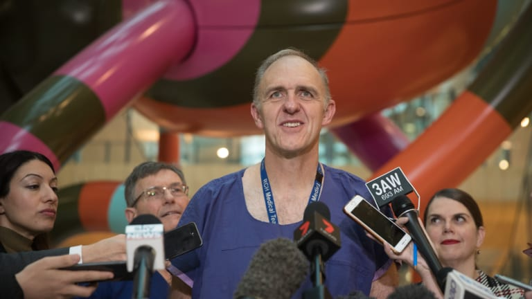 Dr Joe Crameri at the Royal Children's Hospital.