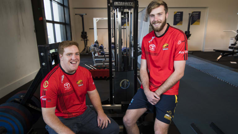 Gungahlin Eagles duo Tom Ross and Mack Hansen played Junior Wallabies earlier this year.