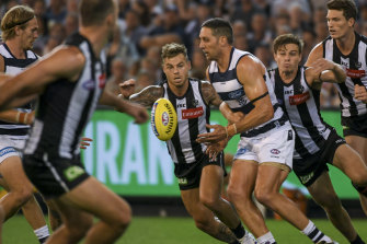 Collingwood v Geelong at the MCG  last year.