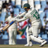 De Kock's stand drags South Africa out of peril against England