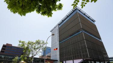 The new Arthur Phillip High School in Parramatta.