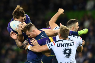 The NRL will be reviewing the Storm's decision to keep Cameron Munster and Harry Grant on the field after both players remained on the field after head knocks without undergoing a HIA.