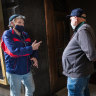 'I tell them, it didn't kill me': Vaccination hub for homeless opens