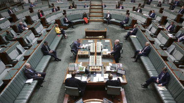 The hot seats of democracy ... Parliament is where the people are represented.