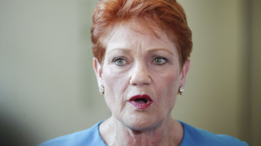 Pauline Hanson says unions should be upset with the major parties, not One Nation.