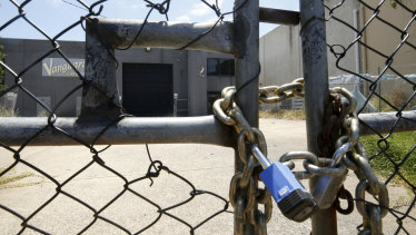 The EPA has locked down the seven warehouses full of drums of chemical waste.