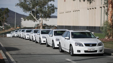 The Comcar fleet of Holden Caprice sedans will be replaced with Toyotas and BMWs.