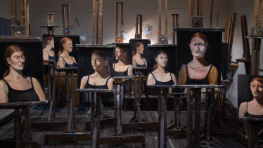Abandoned portraits painted by students in the studio at the Victorian Artists Society