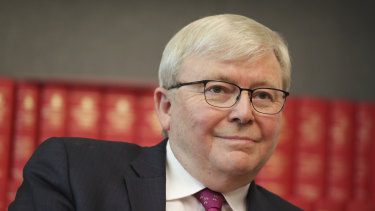 Former prime minister Kevin Rudd says News Corp is a cancer on democracy.