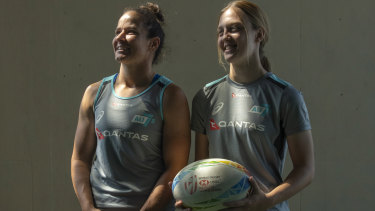 Golden girl and newcomer: Veteran co-captain Shannon Parry and young gun Georgia Hannaway.