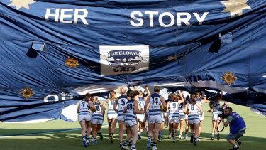 Geelong's women's team.
