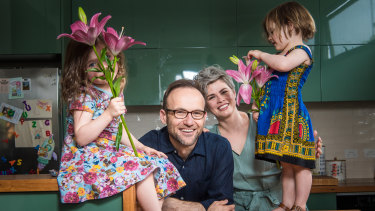 Mr Bandt and Ms Perkins live in Melbourne with their two daughters, Wren, 4 and Elke, 3.