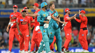 Great escape: the Melbourne Renegades turned the game around to claim a stunning win and continue their unbeaten five-game streak against the Brisbane Heat at the Gabba.