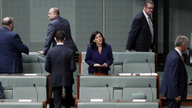 Julia Banks's Liberal colleagues  told Parliament she was quitting the Liberal Party as Prime Minister Scott Morrison was due to launch a book for the Menzies Research Centre on Tuesday.
