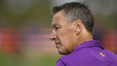 Craig Bellamy will continue to coach the Storm in 2022.