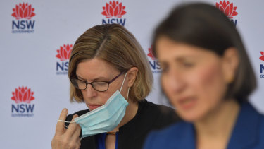 Premier Gladys Berejiklian and Dr Kerry Chant brief the media on Friday about the latest cases in Sydney.
