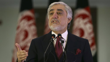Abdullah Abdullah also conducted a swearing-in ceremony on Monday.